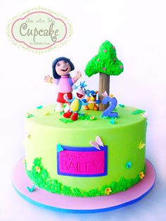 Dora & friends inspired cake. (Original design by Wonder Cakes)