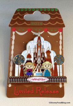 Gingerbread Display Pin 2014 limited edition featuring Elsa and Anna! Disney Trading Pins, Disney Pins, Disney Food, Cute Disney, Disney World Resorts, Walt Disney World, Disney Merchandise, Cute Pins, Disney Christmas