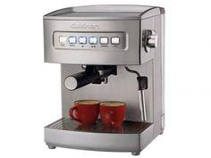 Cafeitira Expresso 15 Bar Cuisinart EM200 - Prata com as melhores condições você encontra no Magazine Sensibilidade. Confira!