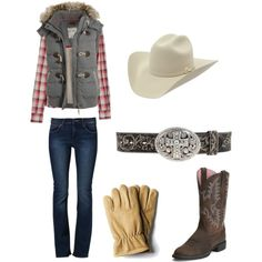 Winter Chores by bullridingirl on polyvore