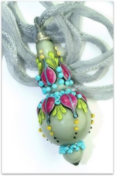 anlukaa glas+faden Beaded Ornaments, Glass Ornaments, Jewelry Art, Beaded Jewelry, Jewellery, Handmade Beads, Lampwork Beads, How To Make Beads, Bead Art