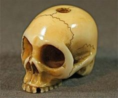 Japanese Netsuke skull ! I am a taste-maker & art curator! Contact me I can find it for you. Email --> BusaccaGallery@sbcGlobal.net