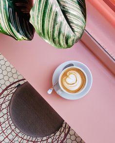 Pink Latte Laptop & Ipad Skin by Tropical Bananana - iPad mini Frappuccino, Frappe, Latte Macchiato, Coffee Break, Coffee Time, Morning Coffee, Coffee Drinks, Coffee Cups, Drinking Coffee