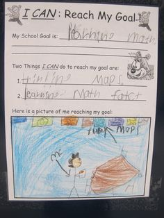 Goal Setting Lesson   Read How Grinner Became a Winner by Robert Bowman, John Chanaca and students created goals.