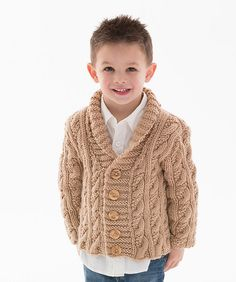 Craft Passions: Kid's Cable Cardigan#Free#knitting pattern link here