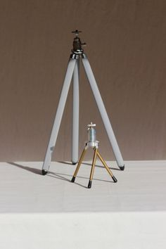 French Vintage Travel Tripod. Camera Tripod. Trepied Ancien. Lamp Stand. Loft…