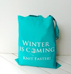 knitting project bag  turquoise blue  Kelly by KellyConnorDesigns, £11.63