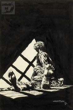Black and white brush illustration 1972 Gravure Illustration, Graphic Illustration, Horror Comics, Horror Art, Comic Books Art, Comic Art, Tracing Art, Bernie Wrightson, Pulp