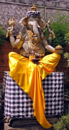 Ganesha dressed up for Galungan in Bali, October 2013. #Ganesha #Ganesh #Bali