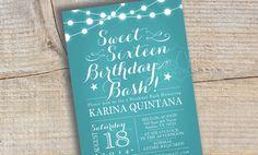 Sweet Sixteen Invitation  Chalkboard  Tiffany by TresCutiesDesigns, $15.00
