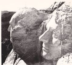 Mount Rushmore During Construction