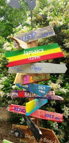 Customized Key West/Jimmy Buffett Style Distressed Wooden Mile Marker Directional Sign for Decor or Special Occassion/Wedding