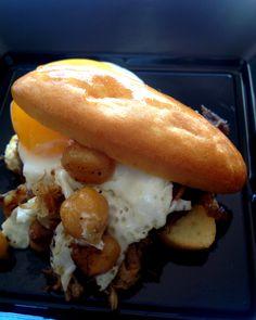 Mini baguetina de ropavieja, #receta para caterings, aperitivos o entrantes