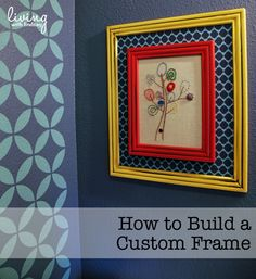 Create a DIY custom sized frame using inexpensive supplies from the home improvement store.
