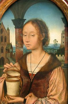 Quentin Metsys, young woman in the pose of Saint Mary Magdalene