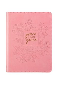 Grace Upon Grace ~ John Classic Pink Journal Christian Art Publishers, Red Shop, Page Marker, Lined Page, Bridal Shower Gifts, Sweet Sixteen, Little Red, Pink And Gold, Bible Verses