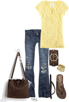 Yellow & Brown for Spring!