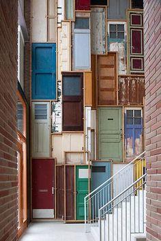 Wall Of Doors Interior Design Home Decor Accessories Walls