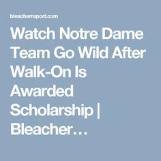 Watch Notre Dame Team Go Wild After Walk-On Is Awarded Scholarship | Bleacher…