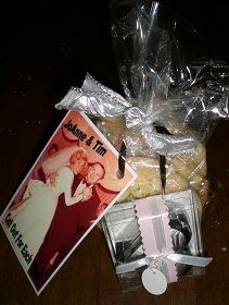 Cute wedding, shower or anniversary party favor.. easy to do  Cut Out for Each Other .. cookie cutters and home made cookies!