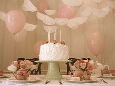 Vintage tea party theme for Kodi Lynn this year so excited!