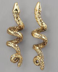 Aurelie Bidermann  Coiled Snake Earrings  $330.00