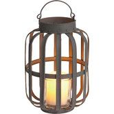 Found it at Wayfair - Farm to Table Metal and Glass Slatted Lantern