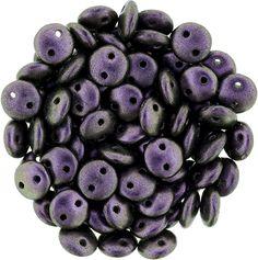 366-06-94101 CzechMates Lentil 6mm : Polychrome - Black Currant