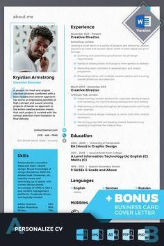 Creative Director Resume Template is a great solution to present your candidacy. An size resume template will give you an bunch of options to display your