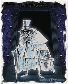 The Art of Haunted Mansion Anniversary Collectibles at the Disneyland Resort - Our own Chef Mayhem was one of the lucky few to get this LE Hatbox Ghost print in celebration of the Haunted Mansion anniversary. Haunted Mansion Halloween, Disney Halloween, Vintage Halloween, Vintage Witch, Disney And More, Disney Love, Dark Disney, Disneysea Tokyo, Hatbox Ghost