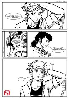If Adrien got a crush on Mari instead of the otherway around, I could image it like this