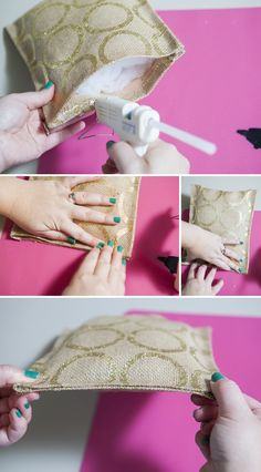 How to make a --no sew-- burlap ring bearer pillow using only HOT GLUE! Might use different fabric!