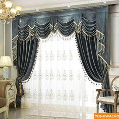 Grommet Curtains, Blackout Curtains, Drapes Curtains, Drapery, Valances, Luxury Curtains, Elegant Curtains, Velvet Curtains, Folk Victorian