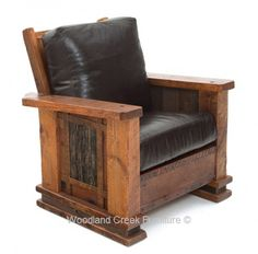 Mountain Lodge Style Rustic Chair Available at Woodland Creek Furniture.