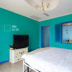 ¿Qué te parecería combinar los marcos con las paredes? Bedroom Bed Design, Family Rules, Colorful Interiors, House Colors, Ideas Para, Interior Design, Color Interior, Diy Home Decor, Sweet Home