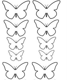MOLDES MARIPOSAS PARA DESCARGAR E IMPRIMIR! | Meet Gypsy Crafts Paper Flower Patterns, Tissue Paper Flowers, Paper Butterflies, Felt Patterns, Butterfly Wall Art, Butterfly Crafts, Flower Crafts, Butterfly Mobile, Butterfly Template