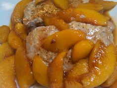 Michele's Woman Cave: Peachy Pork Chops