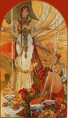 'Cleopatra', by Czech artist Alphonse Mucha