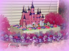 Princess Themed 1st Birthday Party. Now that is a beautiful display.