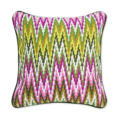 needle point pillow - looks missoni inspired