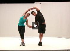 Perform this partner #stretch as a cool-down after your partner #cardio #workout. #