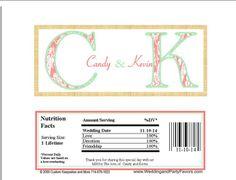 Wedding Candy Bar Wrapper Wed 694 WP