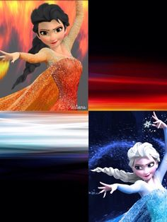 Elsa Ice and Elsa Fire