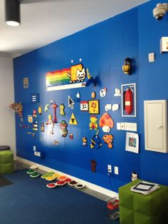 LEGO wall for your creations. I need one of these