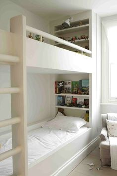 Image result for built in bunk bed bookshelf