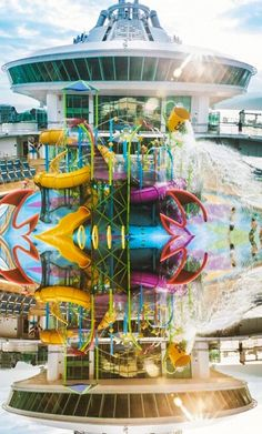 Liberty of the Seas | Flip through Royal Caribbean's onboard children's waterpark, Splashaway Bay, which comes packed with enough fun to keep your kids entertained for hours on end. Photo by Robert M.