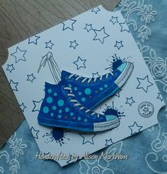 Hunkydory Crafts, Hunky Dory, Cute Creatures, Masculine Cards, Kids Cards, Stamping, Card Making, Converse, Paper Crafts