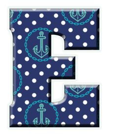 ‿✿..E..✿‿ Sailor Birthday, Nautical Party, Monogram Alphabet, Page Layout, Sea Shells, Anchor, Things To Come, Dots, Clip Art