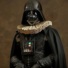 How would superheroes have looked in the 16th century renaissance period! French photographer Sacha Goldberger has created a quirky photo series that perfectly expresses the timeless quality of some of our favorite superheroes and villains – by re-imagining them as 16th-century Flemish portrait models.  star wars Darth Vader