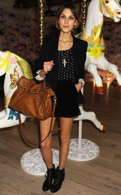 Los bolsos iconos de las firmas de moda: Alexa Chung con el Alexa de Mulberry